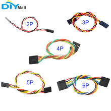 10db / lot 2pin 3pin 4pin 5pin 6pin F / F Jumper vezeték 2.54mm 200mm Nő-Nő Dupont kábel 2P 3P 4P 5P 6P Arduino