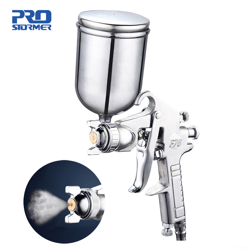 400ML Spray Gun Professional Pneumatic Airbrush Sprayer Alloy Painting Atomizer Tool With Hopper For Painting Cars by PROSTORMER|Spray Guns|   - AliExpress