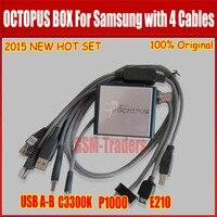 Последняя версия Оригинал Octopus box для samsung флэш-памяти чтения/записи GDFS IMEI ремонт EFS замок сети S5 (с 4 кабель)