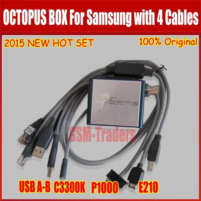 La dernière version boîte de Poulpe D'origine pour Samsung Flash Lire/Écrire GDFS IMEI Réparation EFS Réseau serrure S5 (avec 4 câble)