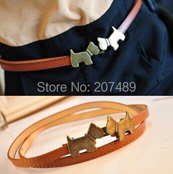Belle Fille de chiens vintage cravate PU ceinture en cuir De Mode Classique  taille Doux coloré whcn + 3f362ea8ae6