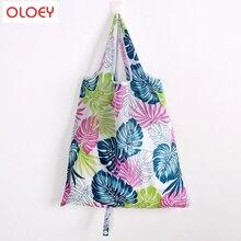 2019 Portable folding shopping bag Large nylon bags Thick Foldable Waterproof ripstop Shoulder Bag Handbag