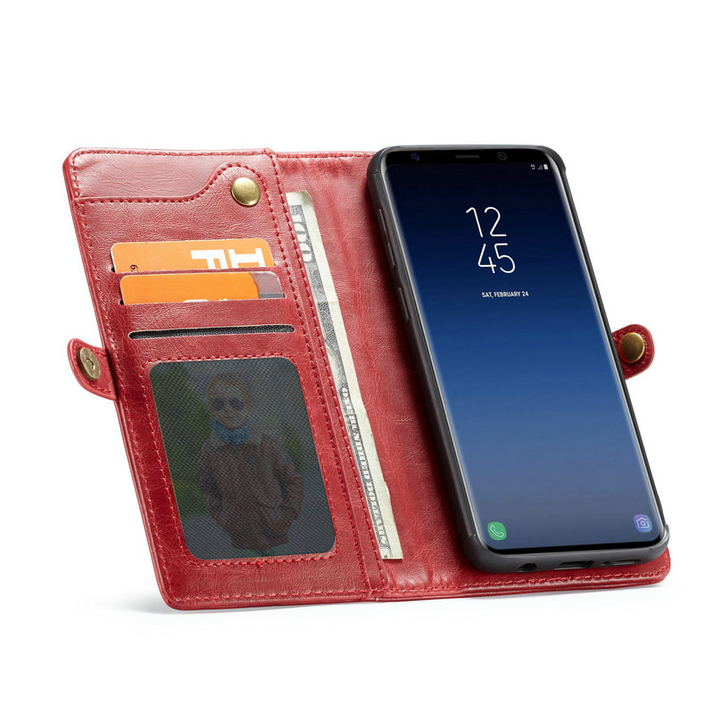 CaseMe Soft Anti-knock Leather Flip Cover For Samsung S9plus Case With Card Pocket And Cash Bag Function