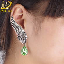 angle wings ear cuff clip on earrings for women vintage jewelry earcuffs aros con without piercing wrap jacket