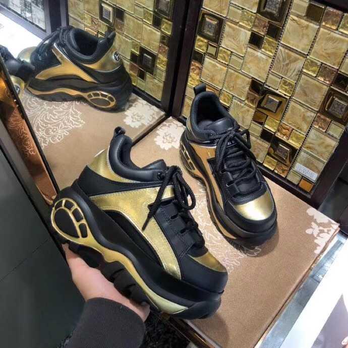 Dama Elegante Mujeres Femmes As Cuero Color Mezclado Superior Pic Cuñas Encaje 2019 Bajo De Zapatillas Chaussures as Mujer Deporte Plataforma Pic Las Grueso Zapatos Hf7wpqd