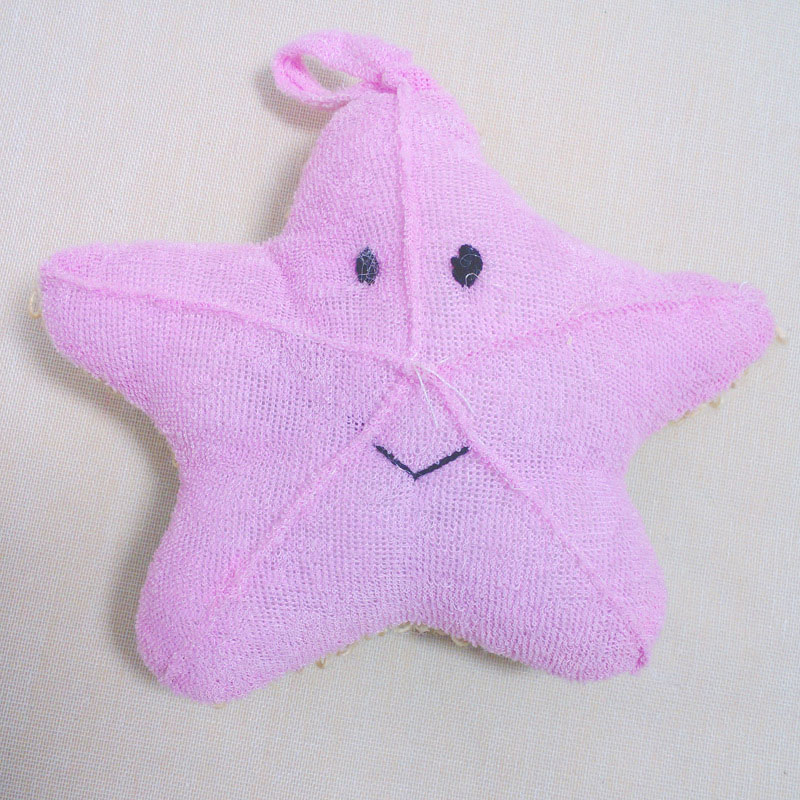 Cute Baby Bath Sponge Cartoon Starfish Super Soft Cotton Brush Rubbing Towel Ball New Bath Gloves HB88
