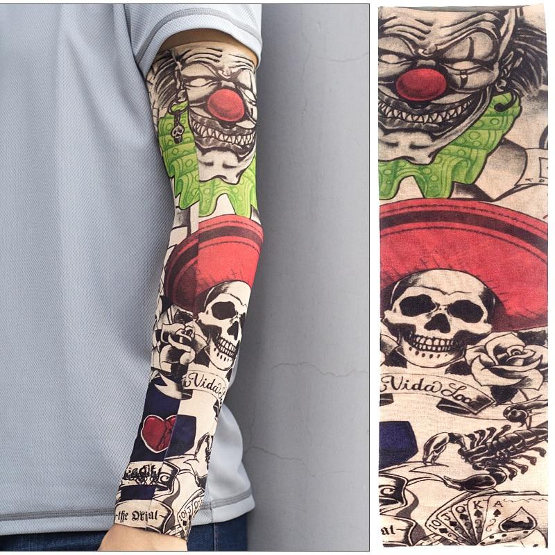 DANKEYISI Sports Tattoo Sleeves UV Cool Arm Sleeves Cycling Running Arm Warmer S Sleeves High Elastic Nylon