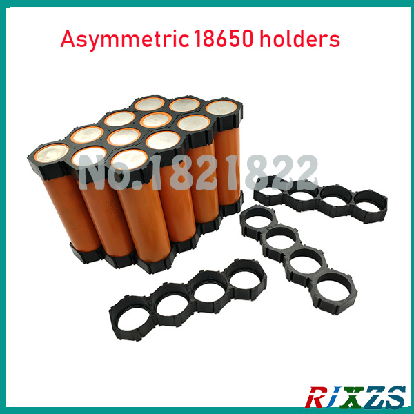 2pcs/a Lot 18650 4p 5p Asymmetric Cylindrical Battery Holder 18650 Cell Holder Safety Anti Vibration Plastic Holder Bright In Colour