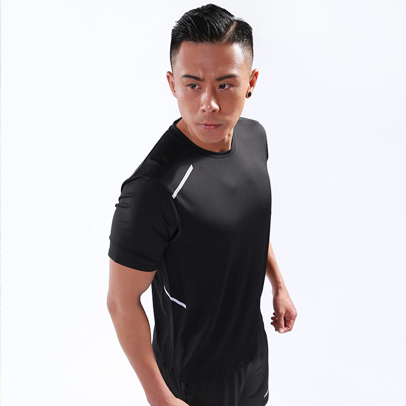 running - Men Workout T Shirts Quick Dry Short Sleeve Outdoor Training Sportswear Tee Breathable Mesh Running Bodybuilding Shirt Man