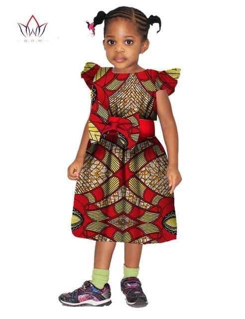 2018 African Clothing Dashiki Autumn Girl Clothes Kids Baby Girl Dress Children Flower Gilr ...