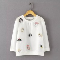 Camiseta Feminina Top Moda Rzucili Bawełna Elastan Regularne Pełna T koszula Kobiety Zestawy Ropa Mujer 2015 Chun Xia Świeże Organza luźne