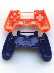 Image 3 - Custodia Set completo di Riparazione delle coperture pulsanti Caso Per Il DualShock 4 PlayStation 4 PS4 Pro jds 040 JDM 040 Copertura del Controller Arancione blu