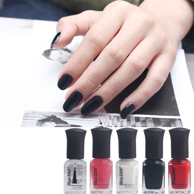 Blue ZOO Pink Black Red 6ml Popular Beauty Nail Basic Color Nail Art ...