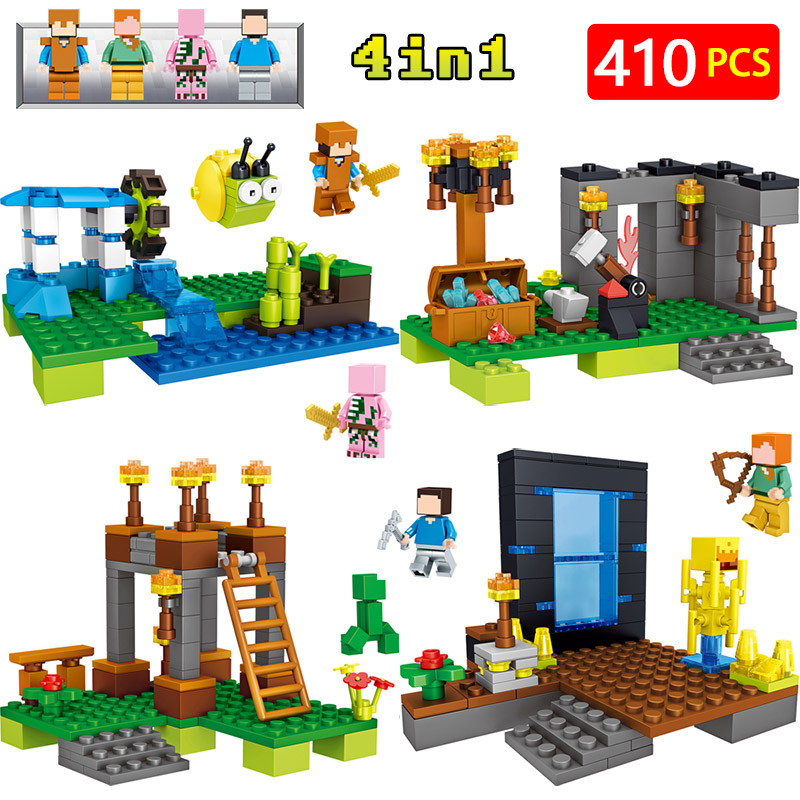 New LegoINGLYS Minecrafted Technic Zombie My World Building Blocks Classic Scene Village DIY Guard Toys For Children lele my world power morse train building blocks kits classic educational children toys compatible legoinglys minecrafter 541 pcs