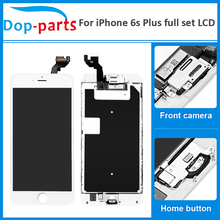 50Pcs Top Quality Full Set For iPhone 6s plus LCD Display Touch Screen Home button+Front camera Digitizer Assembly Replacement