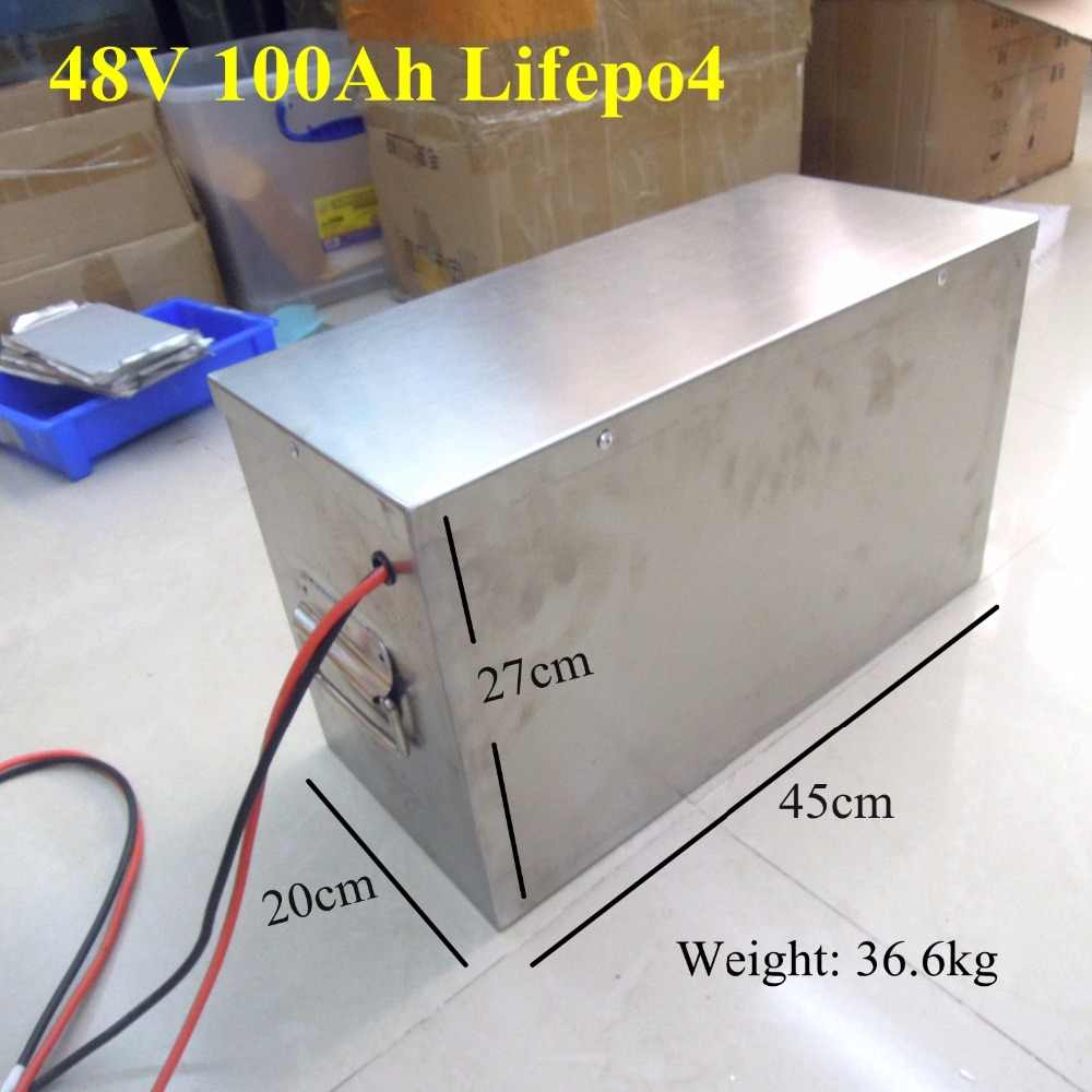 48v 100Ah lifepo4 battery pack 100ah high capacity 250A discharge solar system 48V 4000W 5000W inverter battery + 58.4v charger