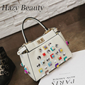 Hazy beauty New spike peka women pu leather handbag bling bling chic girls cross body bag easy matching super lady bags DH336