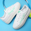 Outdoor fashion Women leather casual Walking shoes flat jogging shoes wear-resistant small White shoes zapatos mujer size 35-40