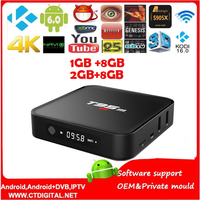 By Dhl 10pcs T95M Android TV Box Amlogic S905 Quad Core Android5 1 DDR3 2G 8G