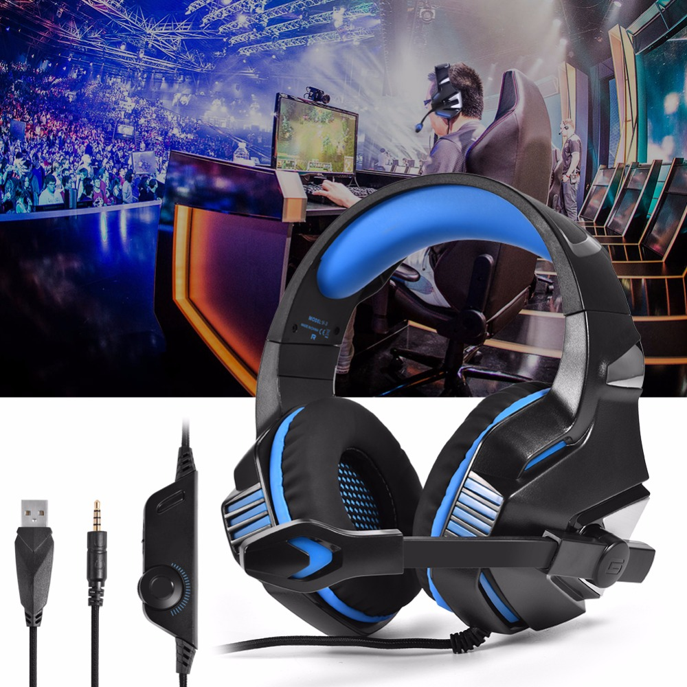 v3 Gaming Comforatble Wearing Super Deep Bass Stereo Gaming with Mic ...