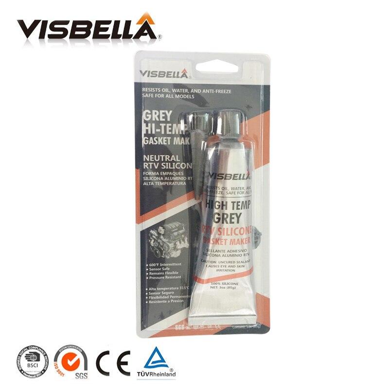 Visbella EINE Qualität Neutral RTV Dichtung Maker 85g Hohe Temperatur silikon-dichtstoff gummi feuchtigkeit proof kleber für Auto Motor