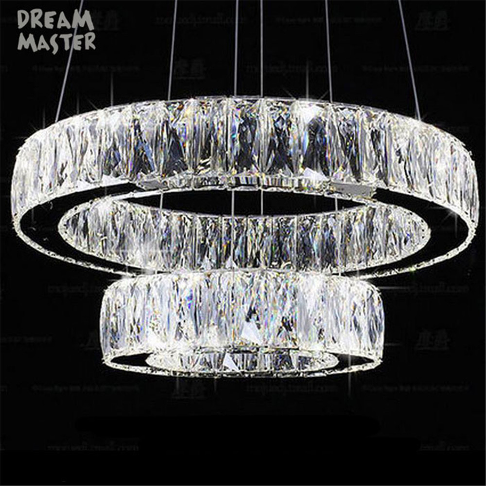 Modern Crystal 2 rings LED pendant lamp Lustre living room lamp suspension pendant lights bedroom dining room luster lighting visaton fr 8 wp 8 white 1 шт