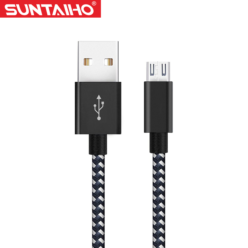 Micro USB Cable, Suntaiho 5V2.4A Nylon Braided Fast Charging Mobile Phone USB Charger Cable for Samsung/xiaomi/LG/Huawei/Meizu