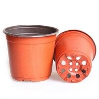 100 Pcs Plastic Round Bi Color Flower Plant Pot Planter Holder For Home Garden Planting Cutting