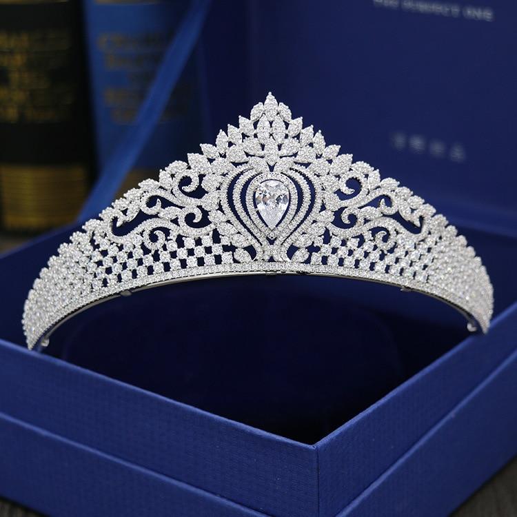 2017 New fashion micro-mosaic All Zircon crown bride headdress crown wedding hair ornaments birthday crown Big Beautyful crown svart crown svart crown abreaction lp cd