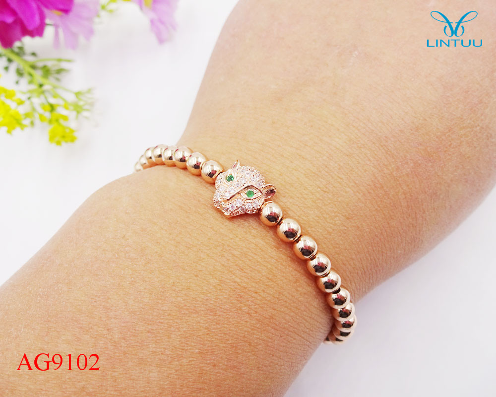 Bracelet leopard rose