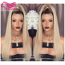 alibaba express ombre blonde full lace wig virgin brazilian human hair straight wigs two tone T1b/blonde front lace wigs