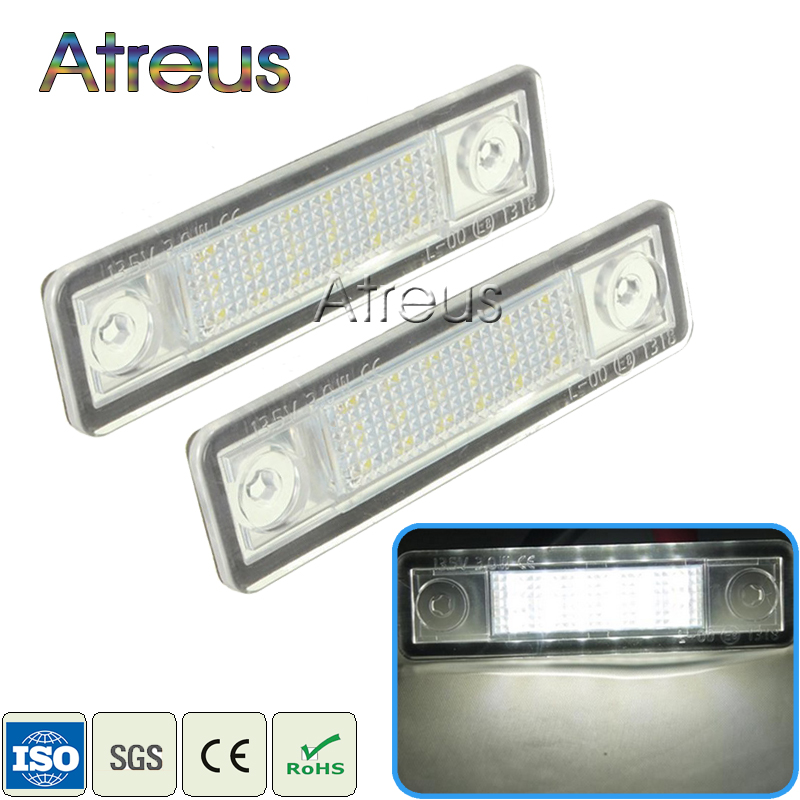 Atreus 2X Car LED Number License Plate Lights 12V White car styling For Opel Astra G Astra F Corsa B Zafira A Vectra B Omega A 2pcs led number license plate light 12v white smd led canbus lamp bulb car styling for opel astra g corsa a b vectra b tigra