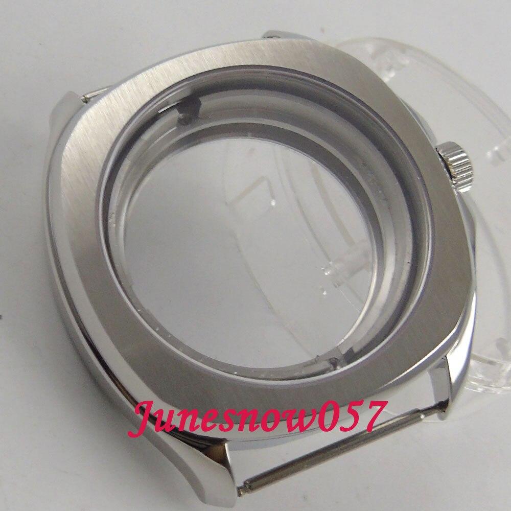 Parnis 40 มิลลิเมตรแปรง 316L นาฬิกา Sapphire คริสตัลดูผ่านกลับ case ETA 2836 miyota 8215 การเคลื่อนไหว C129-ใน หน้าปัดนาฬิกา จาก นาฬิกาข้อมือ บน   2