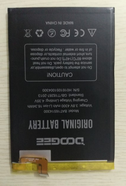 In Stock For Doogee Y6 Max Battery 4300mAh 100% Original Replacement accessory accumulators For Doogee Y6 Max +Tools+Adhesive