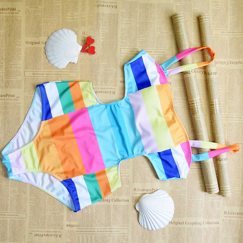 Euro 2017 Европейский стиль сексуальный женский купальник Цельный купальник с радужным принтом купальный Купальник женский (B0497)