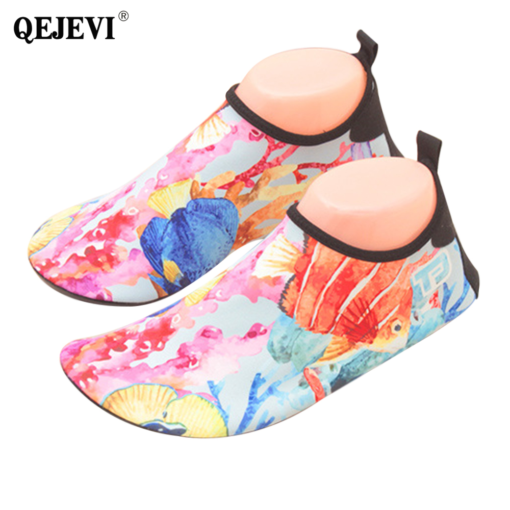 2018 QEJEVI Barefoot Skin Water Shoes Woman Beach Shoes Socks Pool Swimming Sneaker Surf Yoga Diving Outdoor Walking Sport Shoes