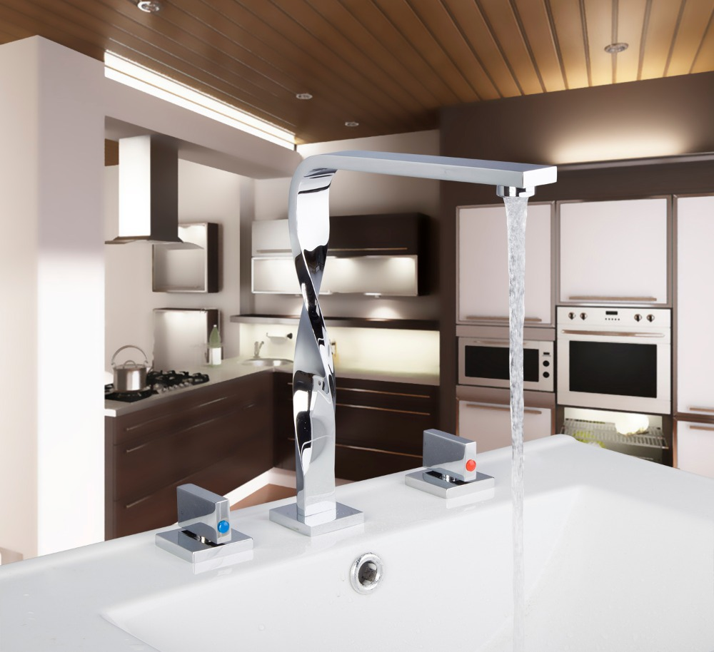 56a Construction Real Estate Bath Fixtures Bath Hardware Sets Bathroom Deck Mounted 3 Pieces Set