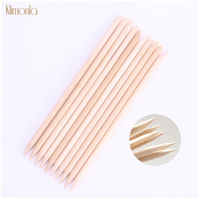 30/50pcs Orange Wooden Nail Art Sticks for Nail Cuticle Pusher Remover Nail Dead Skin Fork Pedicure Manicure Tools