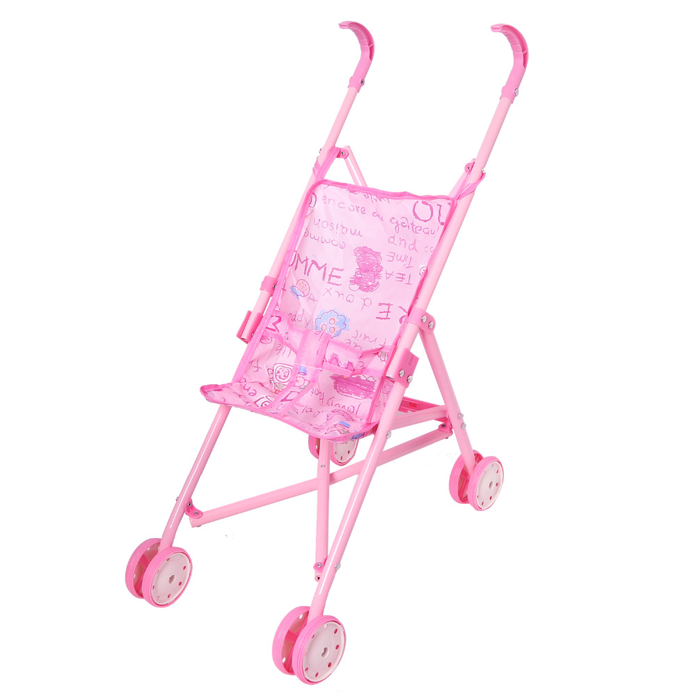 Simulation Baby Toy Simulation Play Toy Girl Kids Children Pretend Play Furniture Toys Baby Doll Stroller Pram Pushchair Gift Activity & Gear Four Wheels Stroller