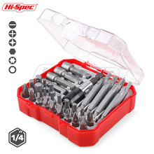 Hi-Spec 34pc Screwdriver Bit Nut Driver Set Magnetic Bit Holder Screwdriver Set Slotted Phillips Hex Torx Drill Bit Set BI003