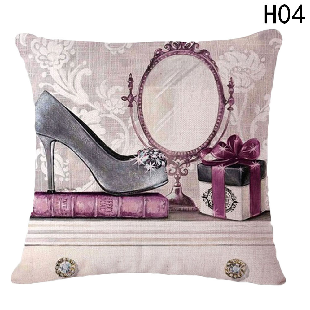 Fashion Queen Modern Linen Cushion Covering Decorative Sofa Car Chair Cushions Handbag H ...