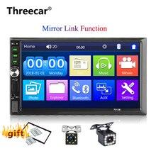 """Aggiornamento 7012B 2 din auto radio 7 """"Lettore MP5 Schermo di Tocco di Bluetooth Multimedia Specchio Android Autoradio macchina fotografica di Sostegno Dell'automobile monitor"""
