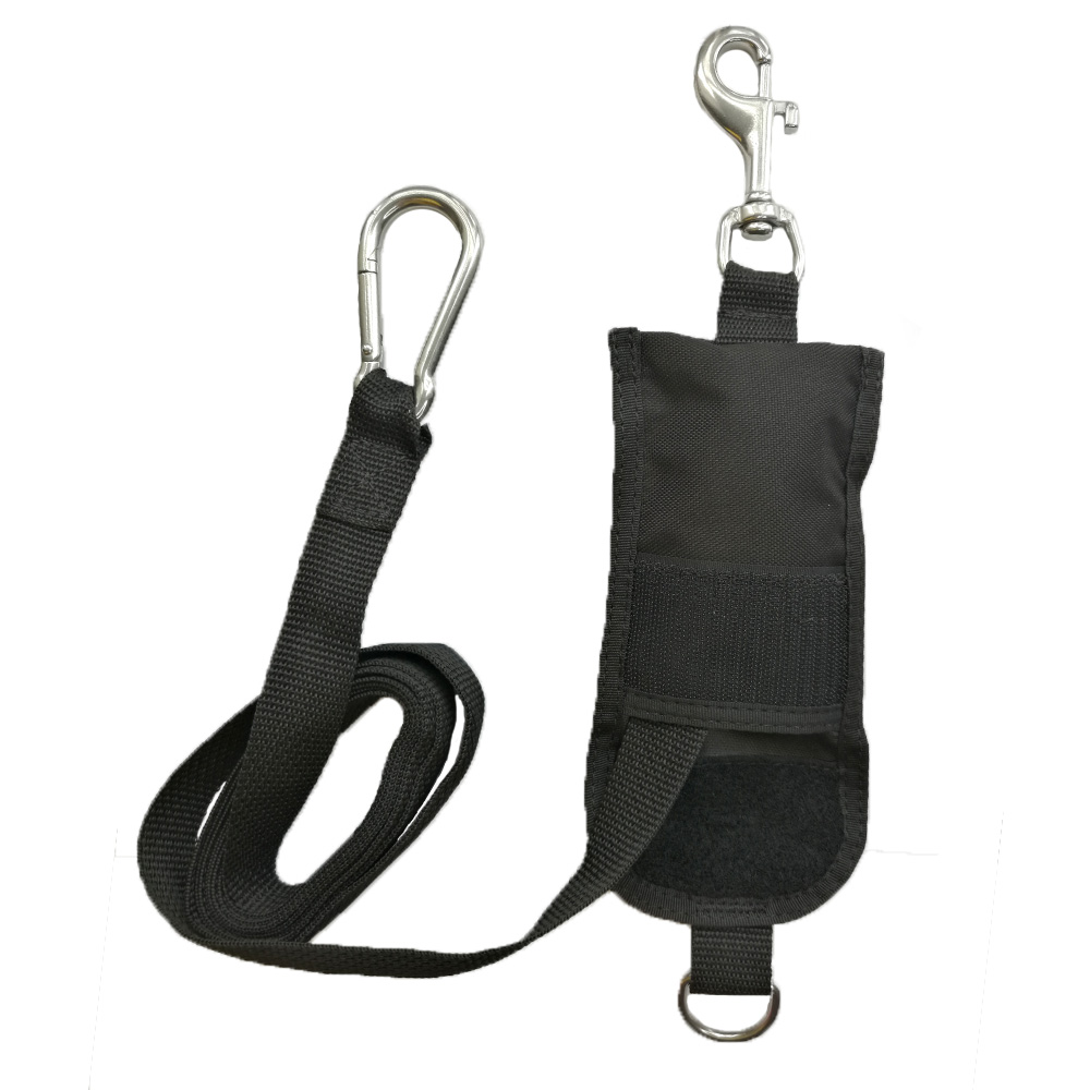220CM Diving Throw Bag Safety Divers Buddy Line Backplate Hanging Strap With 316 Stainless Steel Hook For Technical Diving