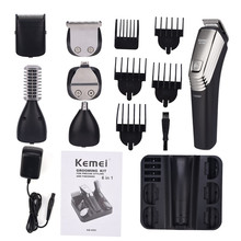 Kemei 6 in 1 Rechargeable Hair Clipper Shaving Machine Beard Trimmer Nose Eyebrow Shaver Electric Razor Men's Grooming Kit 5900 недорого