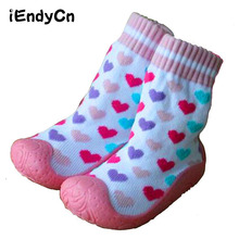 2016 Baby Socks with Rubber Soles  children toddler shoes socks Cotton Baby Sock Shoes Newborn Anti Slip 2019 cotton spring and autumn baby shoes cartoons anti slip babe floor socks toddler girl shoes baby socks children kids shoes