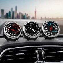 Мини автомобильные цифровые часы, автомобильные часы, автомобильные термометр, гигрометр, декоративные часы с орнаментом, автомобильные аксессуары
