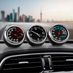Мини автомобильные цифровые часы, автомобильные часы, термометр, гигрометр, декоративные часы с орнаментом, автомобильные аксессуары