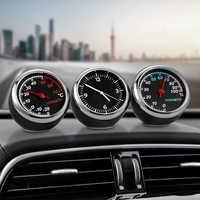 Mini Automobile Orologio Digitale Auto Orologio Automotive Termometro Igrometro Decorazione Ornamento Orologio In Accessori Auto