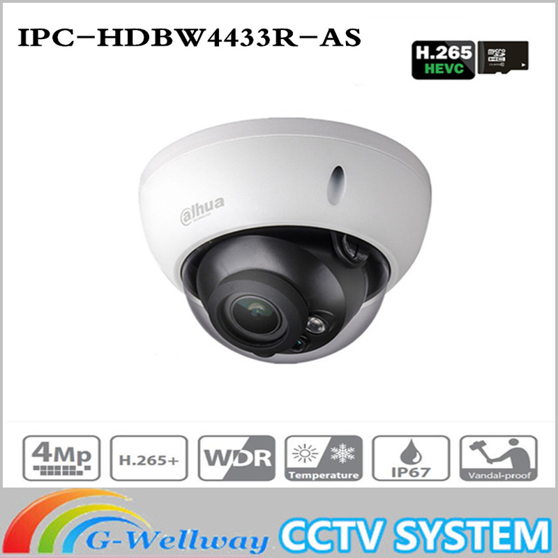 ahua 4MP CCTV IP Camera IPC-HDBW4433R-AS Support IK10 IP67 Audio&Alarm Port PoE Camera IR Range 30m HDBW4433R-AS CCTV Security ahua 4mp cctv ip camera ipc hdbw4433r as support ik10 ip67 audio