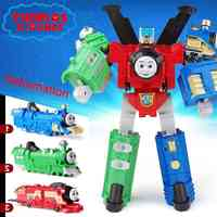 Thomas&Friends car toys children Thomas Train Deformation Robot DIY children's birthday gift action toy figures toys for boys